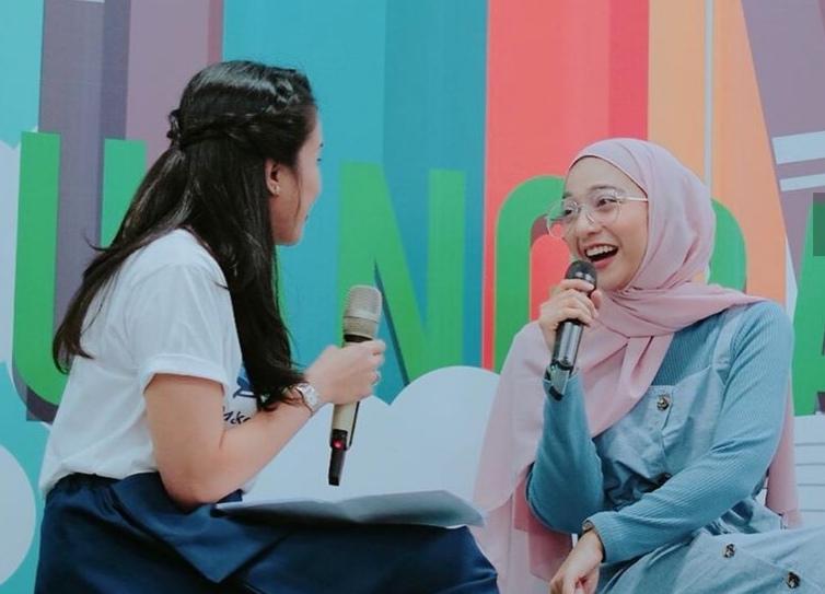 Chiki Fawzi, salah satu influencer yang turut meramaikan rangkaian kegiatan KeREADta 2019